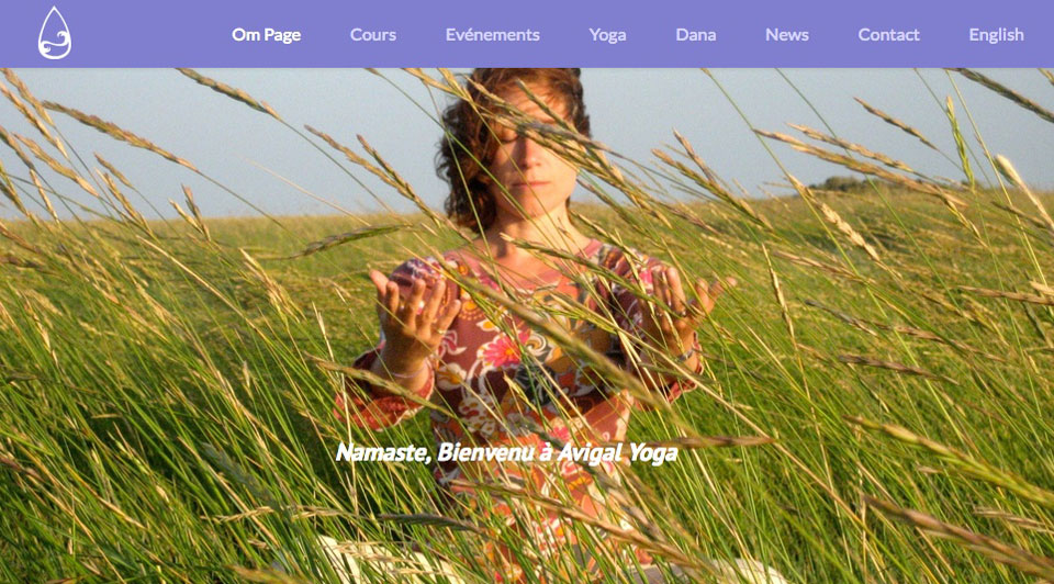 Freelance web design, development & graphic services - Recent Work - Avigal Yoga