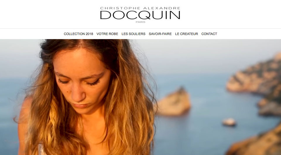 Freelance web design, development & graphic services - Recent Work - Docquin Paris